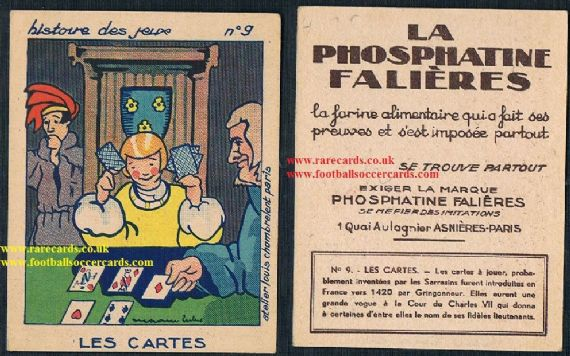 1910s French Phosphatine history of games playing cards